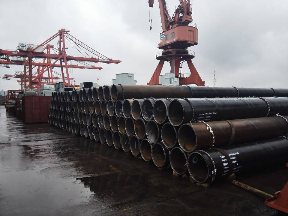 SSAW Interlocked Pipe Piles with Extra Long Size