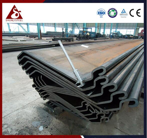 Waterproof Open Cell Z Steel Sheet Piling