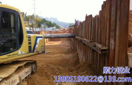 The use of steel sheet piles revetment conservation Jiaxing new channel